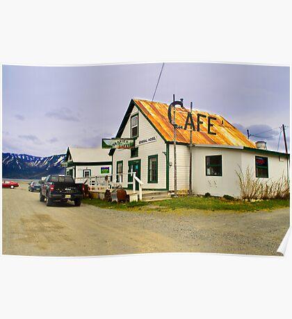 Old Cafe Hope Alaska Poster