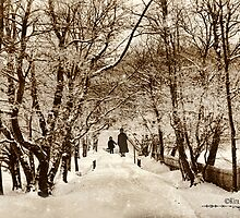 Winter-walk with Granny 1890 by © Kira Bodensted