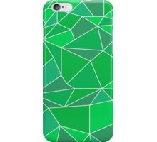 Triangular abstract green iPhone Case/Skin