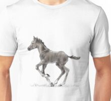 Drawing portrait of running foal Unisex T-Shirt