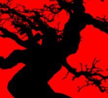 bonsai red sun  Sticker
