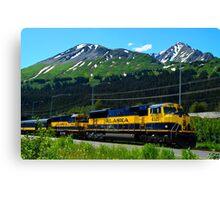 Alaska Locomotive Canvas Print