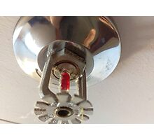 fire sprinkler, f Photographic Print