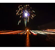 Welcome 2014 Fireworks Photographic Print