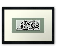 Abstract Frog Swirls And Twirls Framed Print