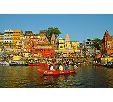Holy river India Photographic Print