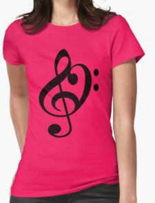 Treble Bass Womens Fitted T-Shirt