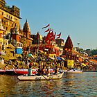Varanasi city India  by raymona pooler