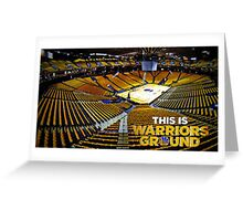 Golden State Warriors Stadium Greeting Card