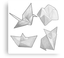 Origami Collection  Canvas Print