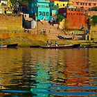 Relections in the Ganges river by raymona pooler