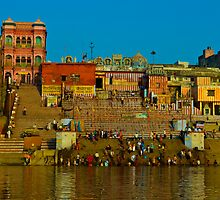 Relections in the Ganges   by raymona pooler