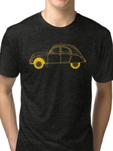 Yellow Citroën 2CV Tri-blend T-Shirt