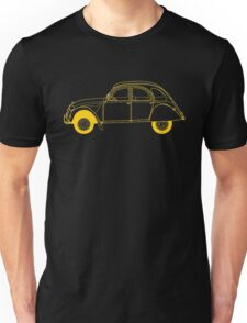 Yellow Citroën 2CV Unisex T-Shirt