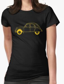 Yellow Citroën 2CV Womens Fitted T-Shirt