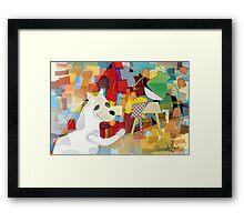 Bad Dog Cubism Framed Print