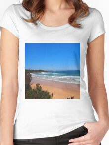 Yamba Beach NSW Australia Women's Fitted Scoop T-Shirt