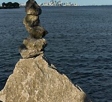 Toronto's CN Tower Sculpted From Natural Stones by Georgia Mizuleva