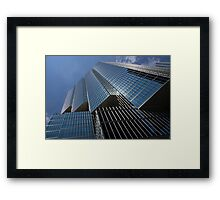 Silver Lines to the Sky - Downtown Toronto Skyscraper Framed Print