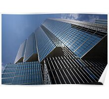 Silver Lines to the Sky - Downtown Toronto Skyscraper Poster