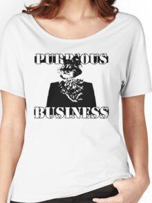 Purrious Business Women's Relaxed Fit T-Shirt