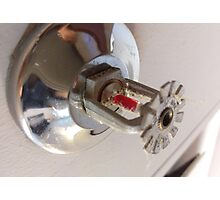 fire sprinkler, k Photographic Print