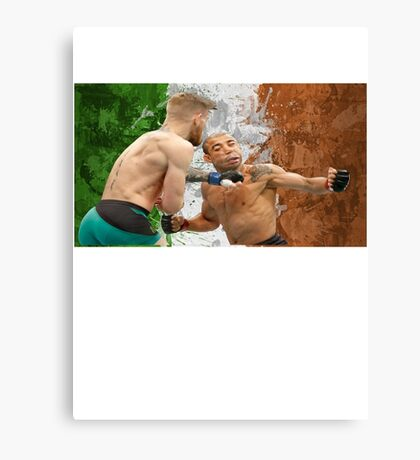 Conor McGregor Knockout Punch Jose Aldo UFC Fighter Canvas Print