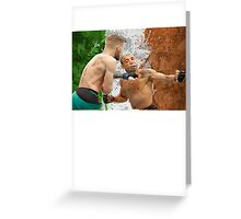 Conor McGregor Knockout Punch Jose Aldo UFC Fighter Greeting Card