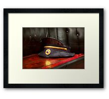 Firefighter - Hat - The ex chiefs hat Framed Print