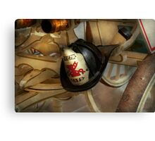 Firefighter - Somewhere to hang hat  Canvas Print