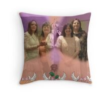 Three beautiful girls and their mother Throw Pillow