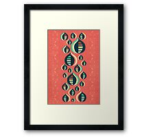 50's floral pattern III Framed Print