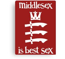 Middlesex is Best Sex Canvas Print