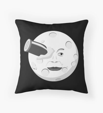 Georde Melies' A Trip to the Moon Throw Pillow
