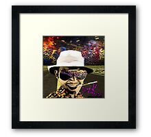 Fear and Loathing in Dark threads Framed Print
