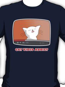 CAT VIDEO ADDICT T-Shirt