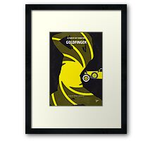 No277-007 My Goldfinger minimal movie poster Framed Print