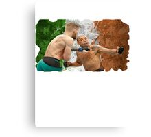 Conor McGregor Knockout Punch Jose Aldo UFC SoftEdge Canvas Print