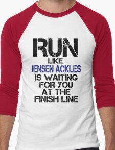 Run Like Jensen Ackles is Waiting Men's Baseball ¾ T-Shirt