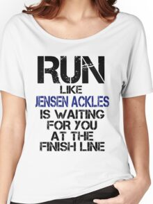 Run Like Jensen Ackles is Waiting Women's Relaxed Fit T-Shirt