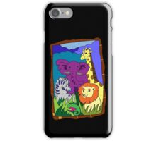 African Animal Party iPhone Case/Skin