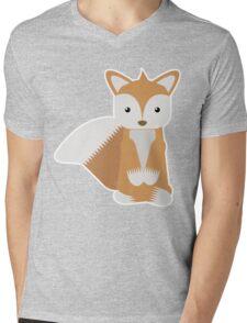 Fox Zen Mens V-Neck T-Shirt