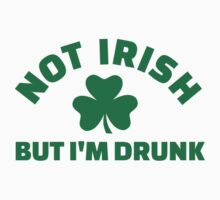 Not Irish but I'm drunk shamrock by Designzz