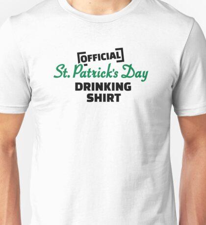 Official St. Patricks day drinking shirt Unisex T-Shirt