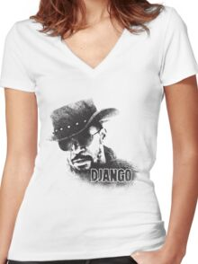 Django Unchained Women's Fitted V-Neck T-Shirt