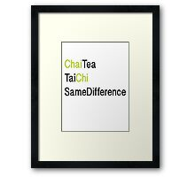 ChaiChi Same Diff Framed Print