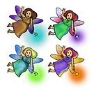 Quadruple Painted Fairies by M McKeithen
