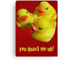 A Greeting Card for Ducks Canvas Print