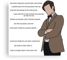Doctor Who - No Time, No Space, Just Me! Canvas Print