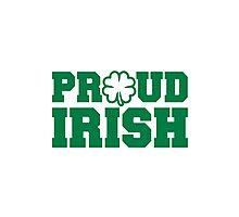 Proud irish shamrock Photographic Print